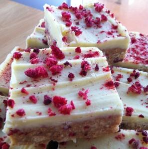 Raspberry & White Chocolate Slice