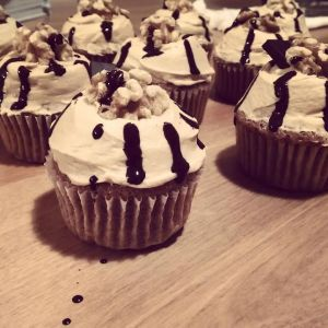 Coffee & Walnut Cupcake
