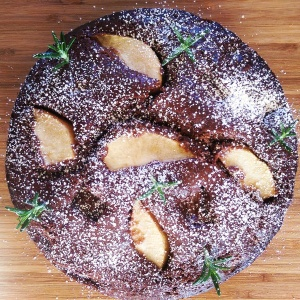 Double Dark Chocolate & Pear Cake